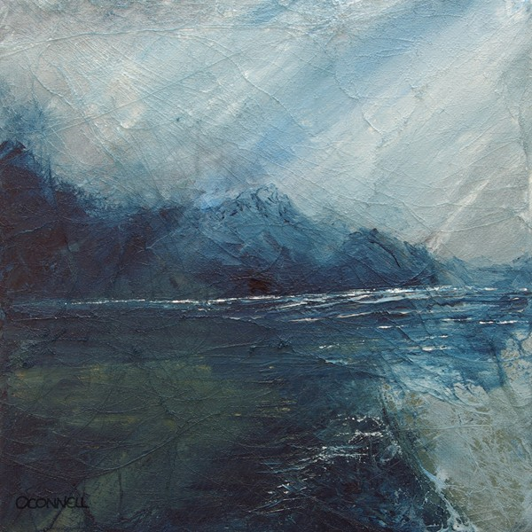 Sea fishing scottish contemporary abstract impressionist  art painting