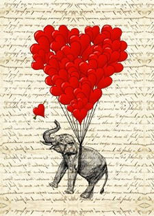 Elephant and heart gifts