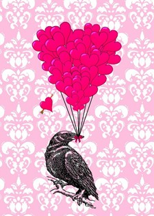Pink Gothic crow gifts