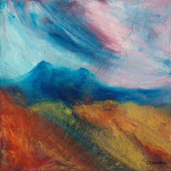 Eildon hills contemporary original scottish art paintings and prints