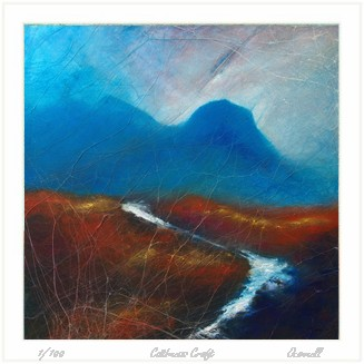 contemporary scottish mountain  landscape original paintng  prints